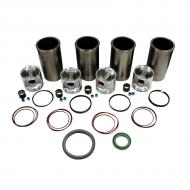 "Engine Base kit for Powertech 4045T engine (Piston Pin 1.375"""" (35mm) ). Includes standard piston kits (RE507920), complete gasket set with front and rear crank seals, connecting rod bushings and Valve Stem seals. To maximize kit you would add 4 conrod bearing pairs, 4 Main Bearing pairs, 1 Main Thrust bearing set, 6 Balance Shaft bushings, 1 Camshaft bushing 8 Capscrews also called Conrod bolts and an injector grommet kit."" (Sold separately). If ordering rod or main bearings please indicate sizes required. Part Reference Numbers: RE66093;RE507920 Fits Models: 230LCR INDUST/CONST; 310E INDUST/CONST; 310G INDUST/CONST; 310SE INDUST/CONST; 310SG  INDUST/CONST; 315SE INDUST/CONST; 315SG INDUST/CONST; 344H INDUST/CONST; 410E INDUST/CONST; 410G INDUST/CONST; 410J TMC INDUST/CONST; 450H INDUST/CONST; 4890 WINDROWER; 4895 WINDROWER; 5415; 5425; 5425N; 550H CRAWLER; 5510; 5510N; 5520; 5520N; 5525; 5525N; 5615; 5625; 5715; 5725; 650H CRAWLER; 6700 SPRAYER"