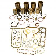 "Engine Base kit for 4.270 engine serial # 280,000 and below (Piston Pin 1.50""(38mm) ). Block R46350, R46430 or R40910. Includes standard piston kits (RE23170), complete gasket set with front and rear crank seals and connecting rod bushings. To maximize kit you would add 4 conrod bearing pairs, 4 Main Bearing pairs, 1 Main Thrust bearing set,  8 Capscrews also called Conrod bolts and 3 Camshaft bushings. (Sold separately). If ordering rod or main bearings please indicate sizes required. Part Reference Numbers: RE23173;RG17899 Fits Models: 3010; 3020; 500  INDUST/CONST; 500A INDUST/CONST; 500B INDUST/CONST; 500C INDUST/CONST; 510 INDUST/CONST"