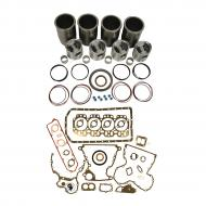 Engine Base kit for 4.276T (4045T) engine. Includes standard piston kits (RE53073), complete gasket set with front and rear crank seals, connecting rod bushings and Valve Stem seals. To maximize kit you would add 4 conrod bearing pairs, 4 Main Bearing pairs, 1 Main Thrust bearing set,  6 Balance Shaft Bushings, 8 Capscrews also called Conrod bolts and an injector grommet kit. (Sold separately). If ordering rod or main bearings please indicate sizes required. Part Reference Numbers: RE53073;RE61612 Fits Models: 340D SKIDDER; 344G INDUST/CONST; 410C INDUST/CONST; 410D INDUST/CONST; 440C SKIDDER; 444G INDUST/CONST; 448D SKIDDER; 450E INDUST/CONST; 450G INDUST/CONST; 455E  INDUST/CONST; 455G  INDUST/CONST; 490E EXCAVATOR; 495D EXCAVATOR; 510C INDUST/CONST; 540D SKIDDER; 548E SKIDDER; 550 CRAWLER; 550A CRAWLER; 550B CRAWLER; 555 CRAWLER; 555A CRAWLER; 555B CRAWLER; 555G CRAWLER; 590D EXCAVATOR; 595  INDUST/CONST; 595 EXCAVATOR; 610B INDUST/CONST; 610C INDUST/CONST; 650G CRAWLER