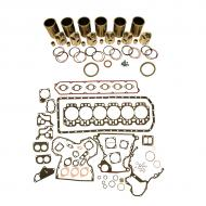 Engine Base kit for 6.359D engine. Includes standard piston kits (RE30250), complete gasket set with front and rear crank seals, connecting rod bushings and Valve stem seals. To maximize kit you would add 6 conrod bearing pairs, 6 Main Bearing pairs, 1 Main Thrust bearing set,  12 Capscrews also called Conrod bolts and an injector grommet kit. (Sold separately). If ordering rod or main bearings please indicate sizes required. Part Reference Numbers: RE30250 Fits Models: 1055 COMBINE; 1075 COMBINE; 2940; 2950; 2955; 3040; 3050; 3140; 3150; 3155; 3155TSS; 3255; 3350; 3640; 4420 COMBINE; 444D INDUST/CONST; 4530; 570B MOTOR GRADER; 7440 COTTON STRIPPER; 7445 COTTON STRIPPER; 955 COMBINE; 955 UTILITY/MOWER; 975 COMBINE; 985 COMBINE; 9900 COTTON PICKER; 9910 COTTON PICKER; 9920 COTTON PICKER