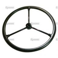 """15in Steering Wheel For John Deere M. 15\"""", 11/16 to 3/4\"""" Keyed Hub, With 3 Steel Spokes."""