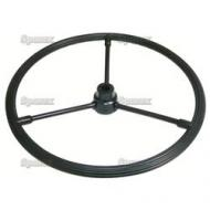 "16in Steering Wheel For Styled John Deere B SN#:60000 to 95999. 16"", 3/4 to 7/8\"" Keyed Stepped Hub, With 3 Steel Spokes."