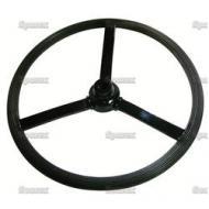 "16in Steering Wheel For Unstyled John Deere B SN#:1000 to 59999. 16\"", 3/4\"" to 7/8\"" Keyed Stepped Hub, 3 Flat Spokes."