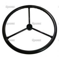 """Steering Wheel 17-5/8\"""" Dia, 3/4\"""" to 7/8\"""" Keyed Hub with 3 Steel Spokes For John Deere B with SN#:230044 & UP."""