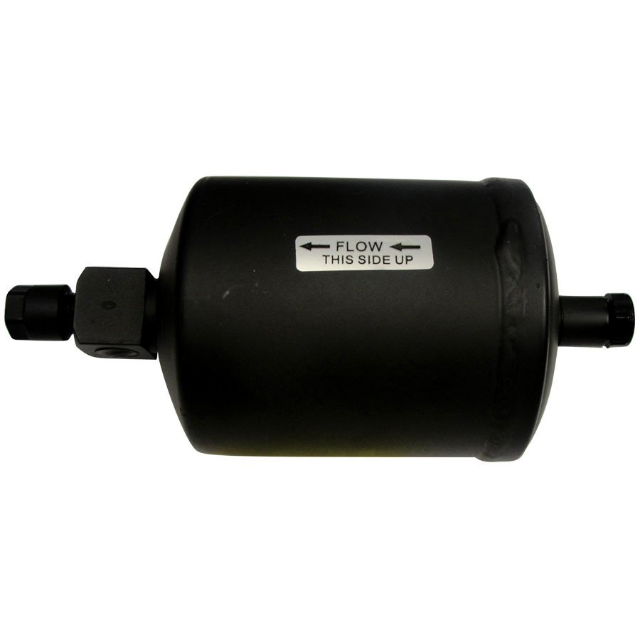 John Deere Receiver Drier Diameter: 4 Length: 7 1/2 Inlet: 3/8 FO Outlet: 3/8 MIO Sight Glass: Side (2)