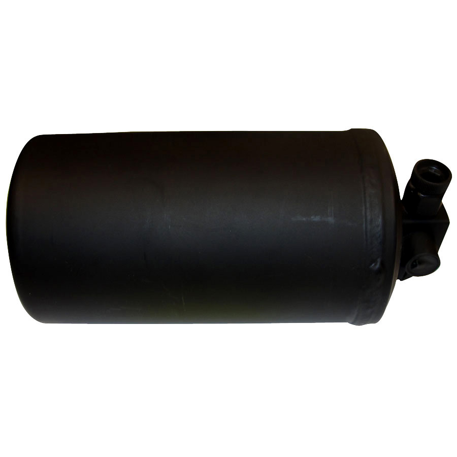 John Deere Receiver Drier Diameter: 4 Length: 8 1/2 Inlet: 3/8 FO Outlet: 3/8 MIO