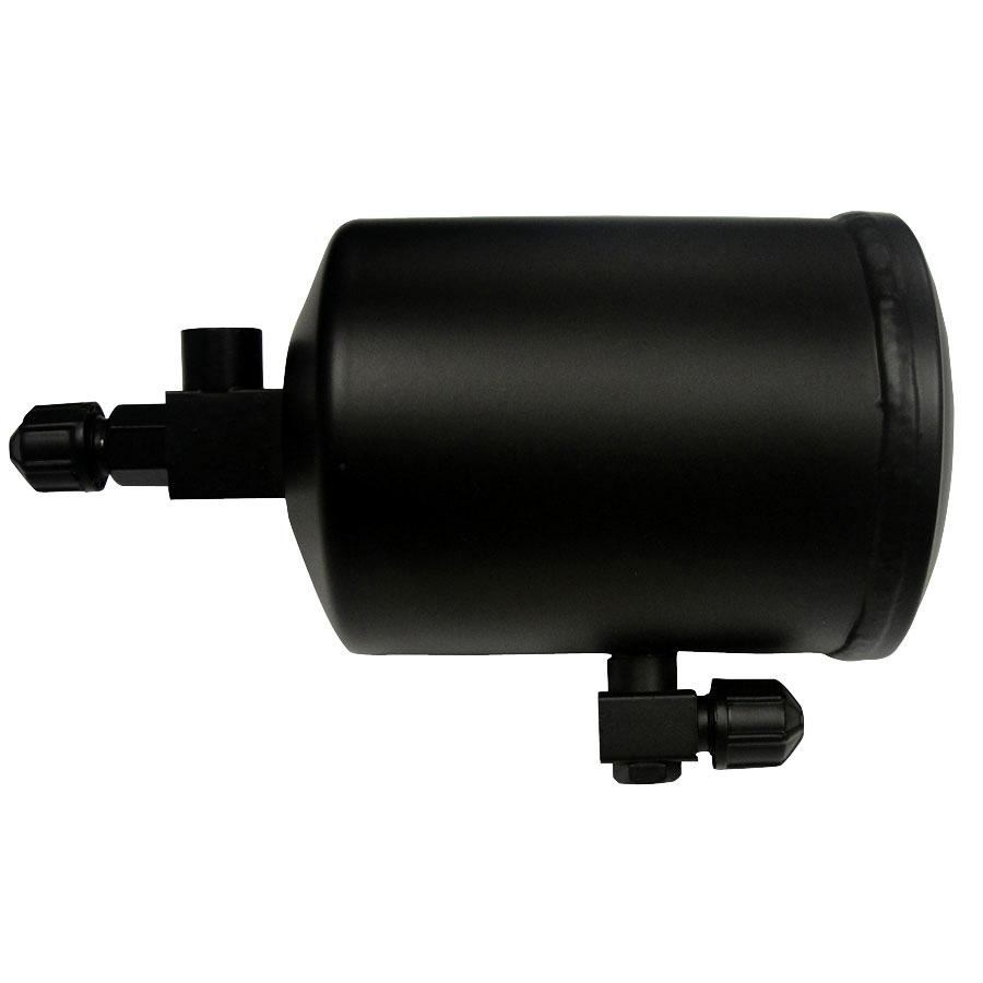 John Deere Receiver Drier Diameter: 4 Length: 8 Inlet: 3/8 MF Outlet: 3/8 MF Sight Glass: Side  HPRV: Fuse Plug