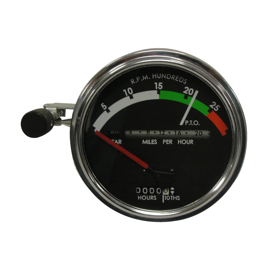 John Deere Tachometer Tachometer Assembly With RED Needle. Tractors: Gas/Diesel With Powershift Transmission; 4020 (s/n 250001 & Up)Red Needle Used Through 1968. No Provision For Fiber Optc Light.
