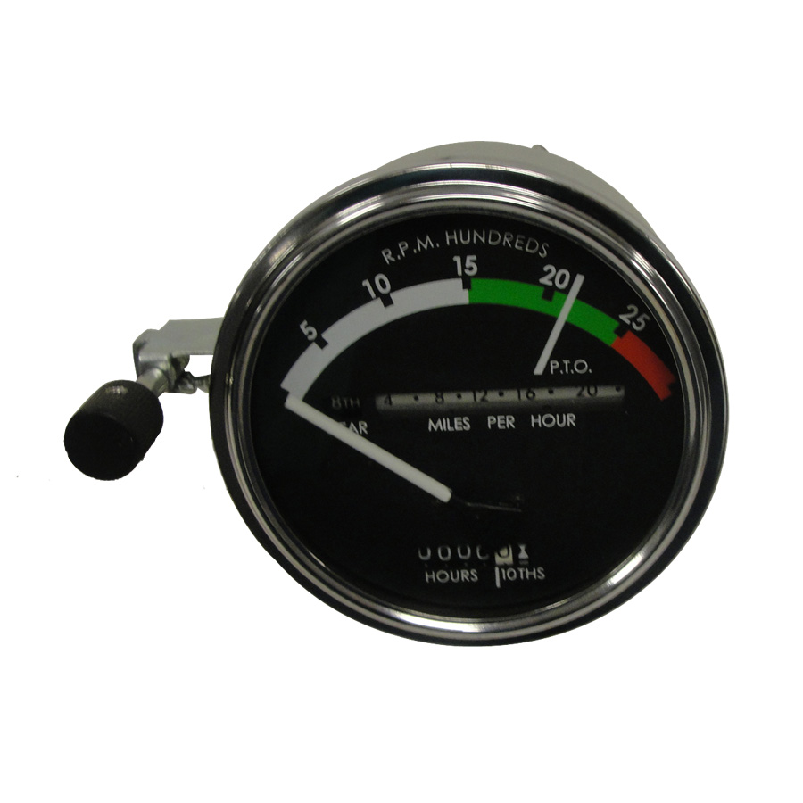 John Deere Tachometer Tachometer Assembly With WHITE Needle. Tractors: Gas/Diesel With Powershift Transmission:4020 (s/n 250001 & Up)Has Provision For Back Light And Fiber Optics