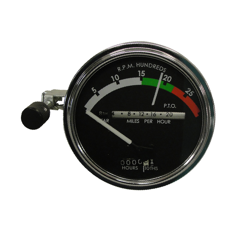 John Deere Tachometer Tachometer Assembly With WHITE Needle. Tractors: Gas/Diesel With Powershift Transmission: 4020 (to S/n 250000)Has Provision For Back Light And Fiber Optics