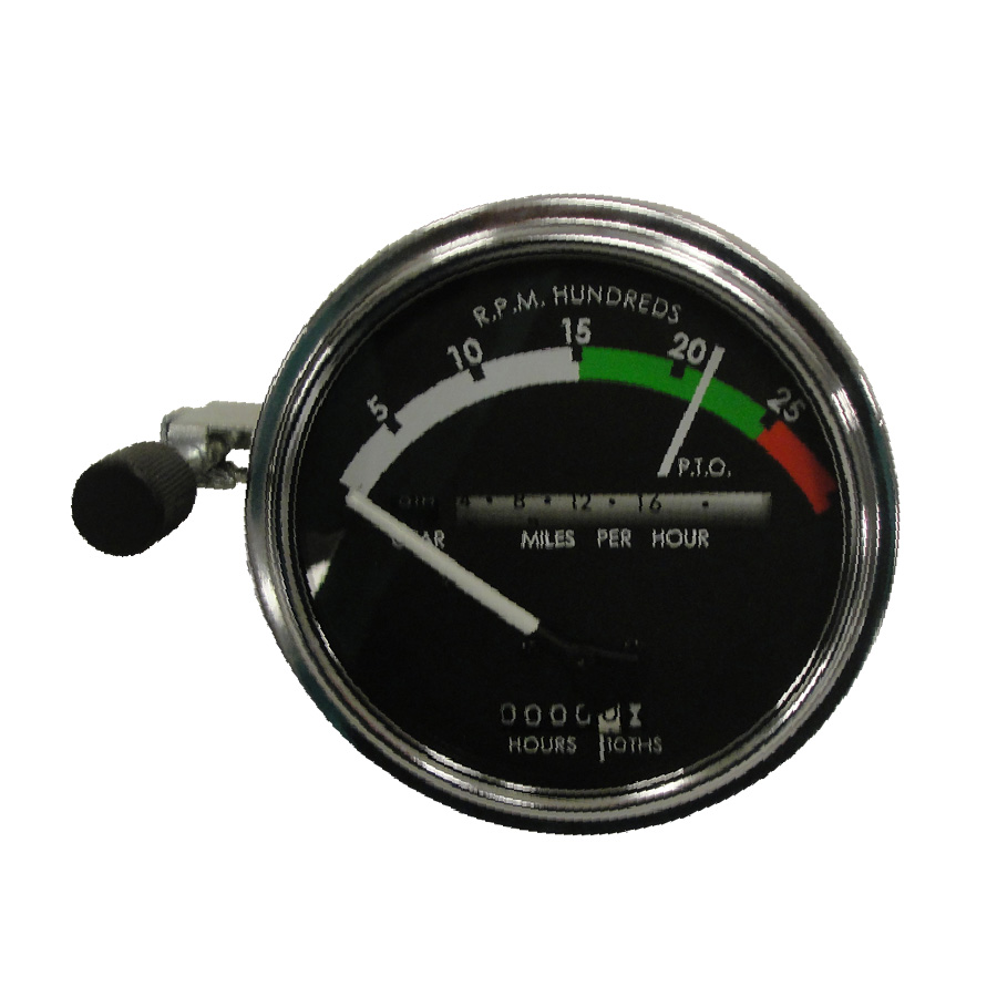John Deere Tachometer Tachometer Assembly With WHITE Needle. Tractors: Gas/Diesel With Syncro Range Transmission: Has Provision For Back Light And Fiber Optics. Vintage Iron