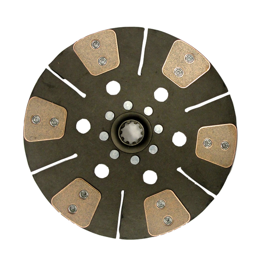 John Deere Clutch Disc 12 6 Pad Cerametallic Disc With 1.25 10 Spline Hub