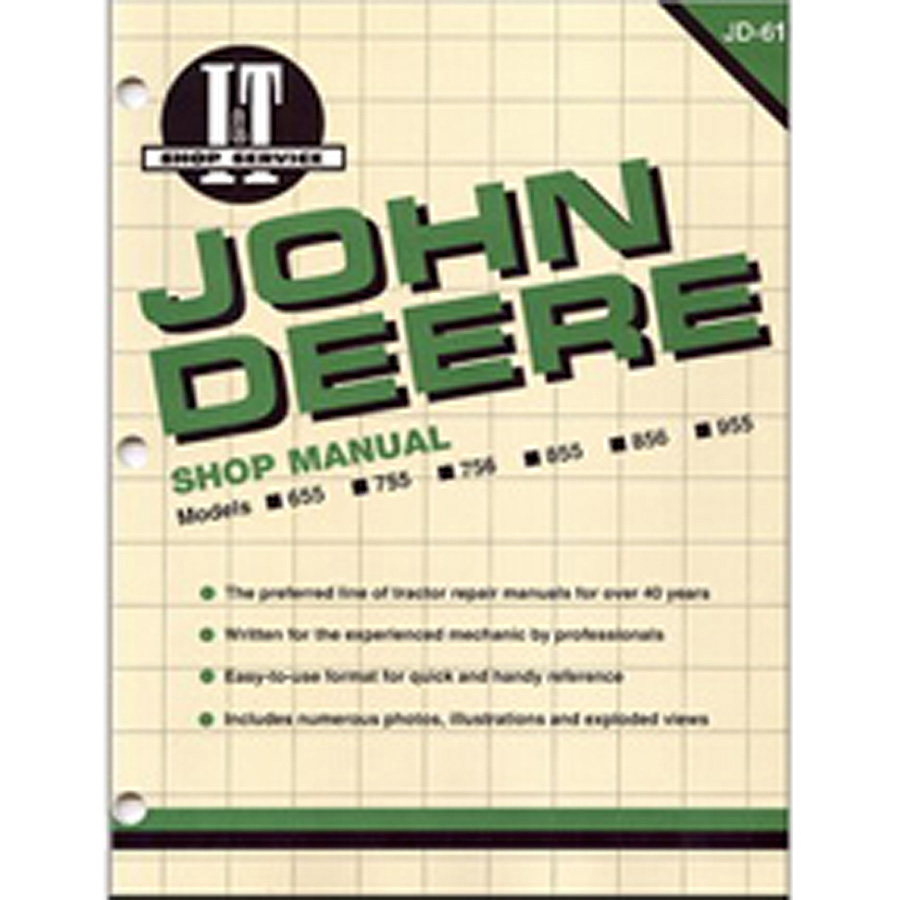 John Deere Service Manual 96 Pages. Includes Wiring Diagrams For All Models.