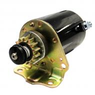12v, 14 tooth drive, CCW unit. PMDD type starter. Part Reference Numbers: LG693551;SE501848 Fits Models: 102 RIDING MOWER; 108 RIDING MOWER; 115 MOWER; D100; D110; D120; L100 RIDING MOWER; L105 RIDING MOWER; L107 RIDING MOWER; L108 MOWER; LA100 RIDING MOWER; LA105 RIDING MOWER; LA110 RIDING MOWER; LA115 MOWER; LA125 RIDING MOWER; X110 RIDING MOWER; X120 RIDING MOWER; X125 RIDING MOWER; X145 RIDING MOWER