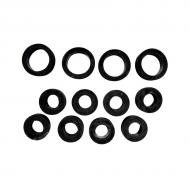 Injector grommets for diesel applications. Part Reference Numbers: MX504 Fits Models: 1020; 1030; 1040; 1052 COMBINE; 1140; 1155 COMBINE; 120 EXCAVATOR; 1350 PLOW; 1420 MOWER; 1520; 1530; 1550; 1630; 1640; 1750 PLANTER; 1840 AIR SEEDER; 1850; 2020; 2030; 2035; 2040; 210C INDUST/CONST; 210LE INDUST/CONST; 2120; 2130; 2140; 2150; 2155; 2240; 2250 WINDROWER; 2270 WINDROWER; 2280 WINDROWER; 230LCR INDUST/CONST; 2320 WINDROWER; 2330; 2350 PLOW; 2355; 2355CS; 2355N; 2360 WINDROWER; 240 SKID STEER LOADER; 2420 WINDROWER; 2440; 244E INDUST/CONST; 2450 PLOW; 2510; 2530; 2535; 2550; 2555; 2555TSS; 2650; 2730; 2735; 2750; 2755; 2850; 2855; 2855N; 290D INDUST/CONST; 300 INDUST/CONST; 300B INDUST/CONST; 301 INDUST/CONST; 301A INDUST/CONST; 302 INDUST/CONST; 3029D ENG; 3029T ENG; 302A; 310 INDUST/CONST; 3100; 310B INDUST/CONST; 310C INDUST/CONST; 310D INDUST/CONST; 310E INDUST/CONST; 310G INDUST/CONST; 310SE INDUST/CONST; 310SG  INDUST/CONST; 315C INDUST/CONST; 315D  INDUST/CONST; 315SE INDUST/CONST; 315SG INDUST/CONST; 3300 COMBINE; 340D SKIDDER; 3430 WINDROWER; 344G INDUST/CONST; 344H INDUST/CONST; 350B CRAWLER; 350C CRAWLER; 350D INDUST/CONST; 355D INDUST/CONST; 380 LIFT TRUCK; 3830 WINDROWER; 400 LOADER; 400G INDUST/CONST; 401 INDUST/CONST; 401A INDUST/CONST; 401B INDUST/CONST; 401C INDUST/CONST; 401D INDUST/CONST; 410 INDUST/CONST; 410B INDUST/CONST; 410C INDUST/CONST; 410D INDUST/CONST; 410E INDUST/CONST; 410G INDUST/CONST; 410J TMC INDUST/CONST; 415B INDUST/CONST; 440 SKIDDER; 440B SKIDDER; 440C LOG SKIDDER; 444G INDUST/CONST; 444HCL INDUST/CONST; 444HLL INDUST/CONST; 448D SKIDDER; 450 INDUST/CONST; 450B INDUST/CONST; 450C INDUST/CONST; 450D INDUST/CONST; 450E INDUST/CONST; 450G INDUST/CONST; 450H INDUST/CONST; 455D CRAWLER; 455E  INDUST/CONST; 455G  INDUST/CONST; 480 LIFT TRUCK; 480A LIFT TRUCK; 480B LIFT TRUCK; 480C LIFT TRUCK; 485E LIFT TRUCK; 486E LIFT TRUCK; 488E LIFT TRUCK; 4890 WINDROWER; 4895 WINDROWER; 490 EXCAVATOR; 490E EXCAVATOR; 495D EXCAVATOR; 499 COTTON PICK