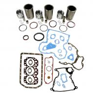 """Engine Base kit for 3.152 engine serial # 154,765 and below (O-rings on Liner with small 1.185""""(30mm) piston pin). Includes standard piston kits (PLK481), complete gasket set with front and rear crank seals and connecting rod bushings. To maximize kit you would add 3 conrod bearing pairs, 3 Main Bearing pairs, 1 Main Thrust bearing set, 6 Capscrews also called Conrod bolts and an injector grommet set. (Sold separately). If ordering rod or main bearings please indicate sizes required. Part Reference Numbers: PLK481 Fits Models: 1020; 1030; 300 INDUST/CONST; 350B CRAWLER; 380 LIFT TRUCK; 820"""