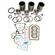 Engine Base kit for 3.179 engine. Includes standard piston kits (RE30250), complete gasket set with front and rear crank seals, connecting rod bushings and Valve stem seals. To maximize kit you would add 3 conrod bearing pairs, 3 Main Bearing pairs, 1 Main Thrust bearing set set, 6 Capscrews also called Conrod bolts and an injector grommet kit. (Sold separately). If ordering rod or main bearings please indicate sizes required. Part Reference Numbers: RE30250 Fits Models: 1040; 1140; 1350 PLOW; 1550; 1630; 1750 PLANTER; 1850; 2040; 2150; 2155; 2240; 350D INDUST/CONST; 355D INDUST/CONST; 5000