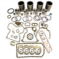 Engine Base kit for 4.239D engine. Includes standard piston kits (RE30250), complete gasket set with front and rear crank seals and connecting rod bushings. To maximize kit you would add 4 conrod bearing pairs, 4 Main Bearing pairs, 1 Main Thrust bearing set, 6 Balance Shaft bushings, 8 Capscrews also called Conrod bolts and an injector grommet set. (Sold separately). If ordering rod or main bearings please indicate sizes required. Part Reference Numbers: AT86992;RE30250 Fits Models: 1640; 1840 AIR SEEDER; 210C INDUST/CONST; 2130; 2250 WINDROWER; 2350 PLOW; 2355; 2355CS; 2360 WINDROWER; 244E INDUST/CONST; 2450 PLOW; 2535; 2550; 2650; 2730; 2735; 290D INDUST/CONST; 310C INDUST/CONST; 310D INDUST/CONST; 315C INDUST/CONST; 3430 WINDROWER; 400G INDUST/CONST; 415B INDUST/CONST; 490 EXCAVATOR; 515B INDUST/CONST; 6602 COMBINE; 70 EXCAVATOR; 70D EXCAVATOR; 940 COMBINE; 942 COMBINE