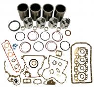 Engine Base kit for 4.239T engine. Includes standard piston kits (RE33115), complete gasket set with front and rear crank seals, connecting rod bushings and Valve Stem seals. To maximize kit you would add 4 conrod bearing pairs, 4 Main Bearing pairs, 1 Main Thrust bearing set, 6 Balance shaft bushings, 8 Capscrews also called Conrod bolts and an injector grommet kit. (Sold separately). If ordering rod or main bearings please indicate sizes required. Part Reference Numbers: RE33115 Fits Models: 1052 COMBINE; 1155 COMBINE; 2140; 2450 PLOW; 2555; 2555TSS; 2650; 2750; 2755; 2850; 2855; 2855N; 310C INDUST/CONST; 310D INDUST/CONST; 315C INDUST/CONST; 315D  INDUST/CONST; 3430 WINDROWER; 3830 WINDROWER; 515B INDUST/CONST; 945 COMBINE