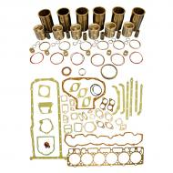 Engine Base kit for 6.404D engine (Early Power Booster Upgrade). Includes standard piston Kits (PLK163), complete gasket set with front and rear crank seals and connecting rod bushings. To maximize kit you would add 6 conrod bearing pairs, 6 Main Bearing pairs, 1 Main Thrust bearing set set, 4 Camshaft bushings, 12 Capscrews also called Conrod bolts. (Sold separately). If ordering rod or main bearings please indicate sizes required. Part Reference Numbers: PLK163 Fits Models: 4010; 4020
