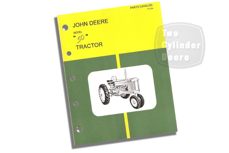 John Deere Model M Tractor Parts Catalog