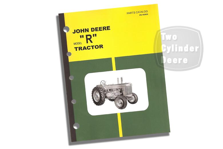 John Deere Model R Tractor Parts Catalog