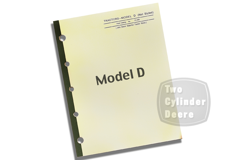 John Deere Model D Tractor Parts Catalog