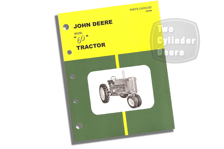 John Deere Model 60 Tractor Parts Catalog
