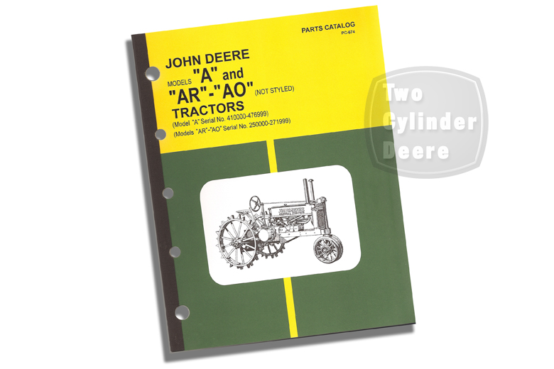 John Deere Models A And AR - AO (unstyled) Parts Catalog