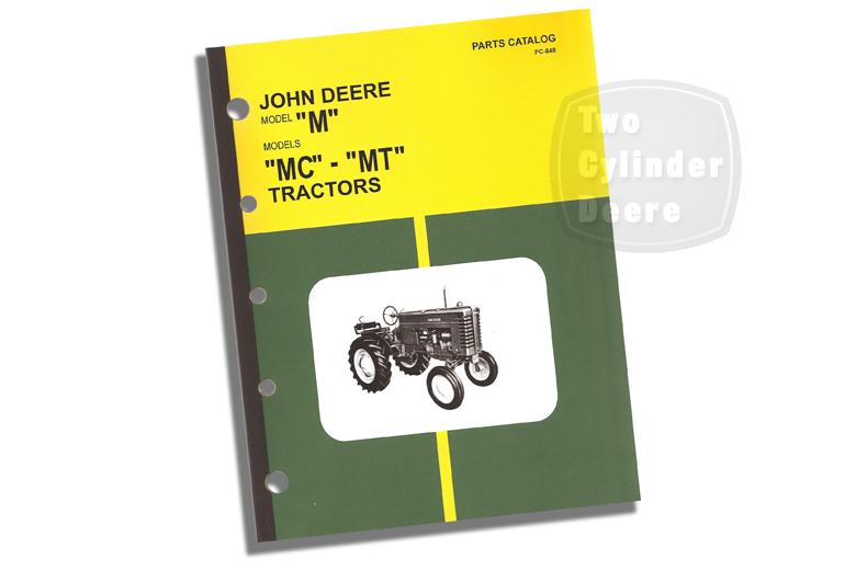 John Deere Model M, MC - MT Parts Catalog